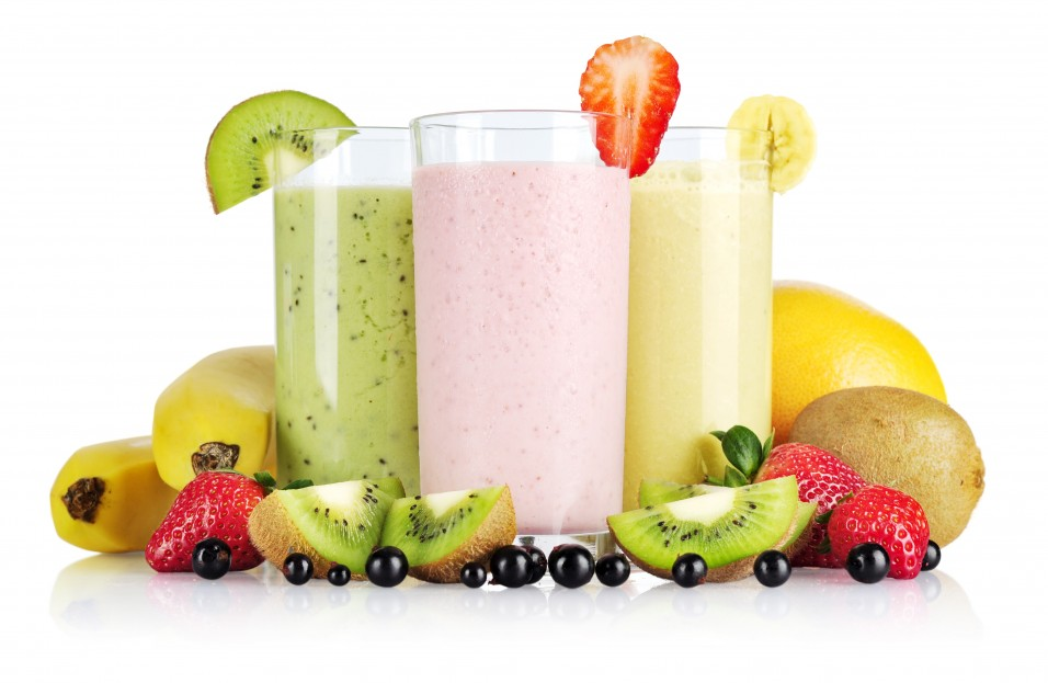 smoothies verres différents gouts